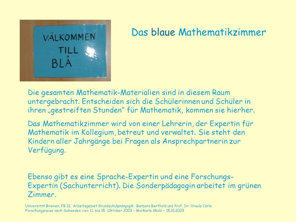 Das blaue Mathematikzimmer