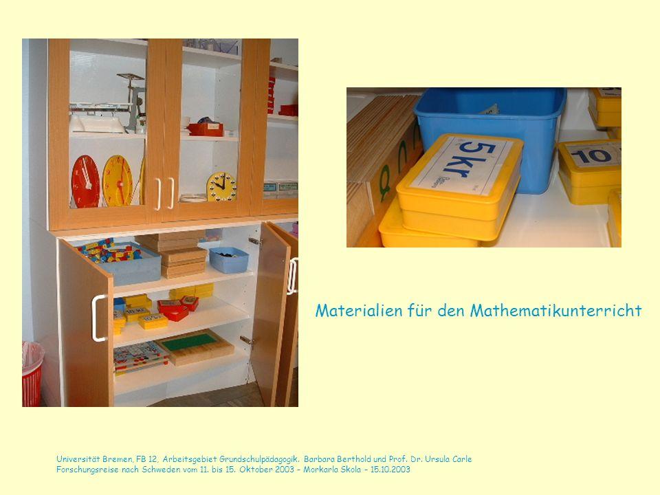 Materialien für den Mathematikunterricht