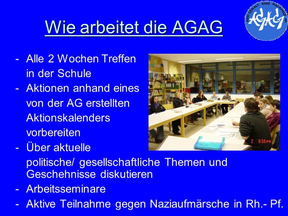 Wie arbeitet die AGAG Alle 2 Wochen Treffen in der Schule