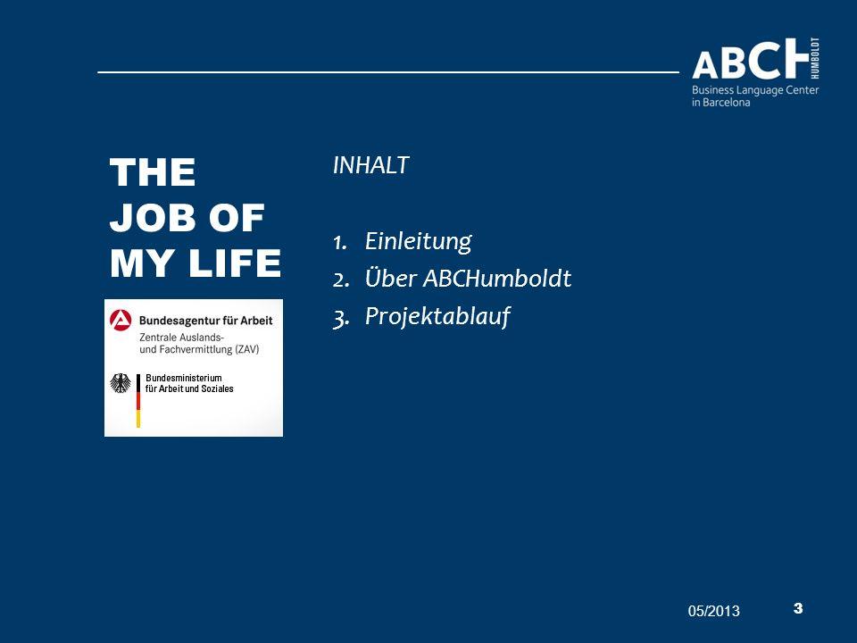 The job of my life INHALT Einleitung Über ABCHumboldt Projektablauf