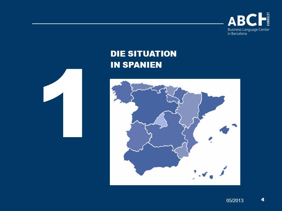 1 Die situation In Spanien 05/2013