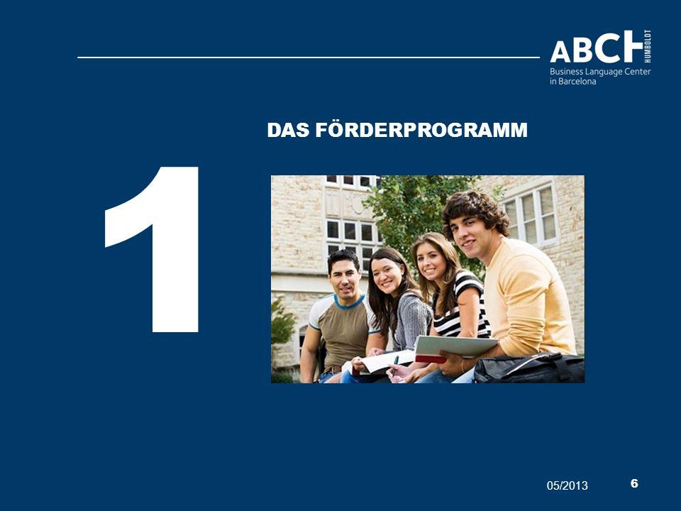 1 Das förderProgramm 05/2013