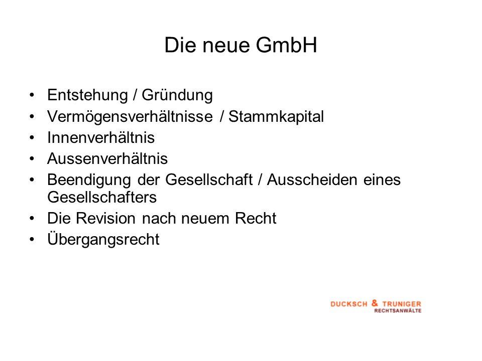 Die neue GmbH Entstehung / Gründung