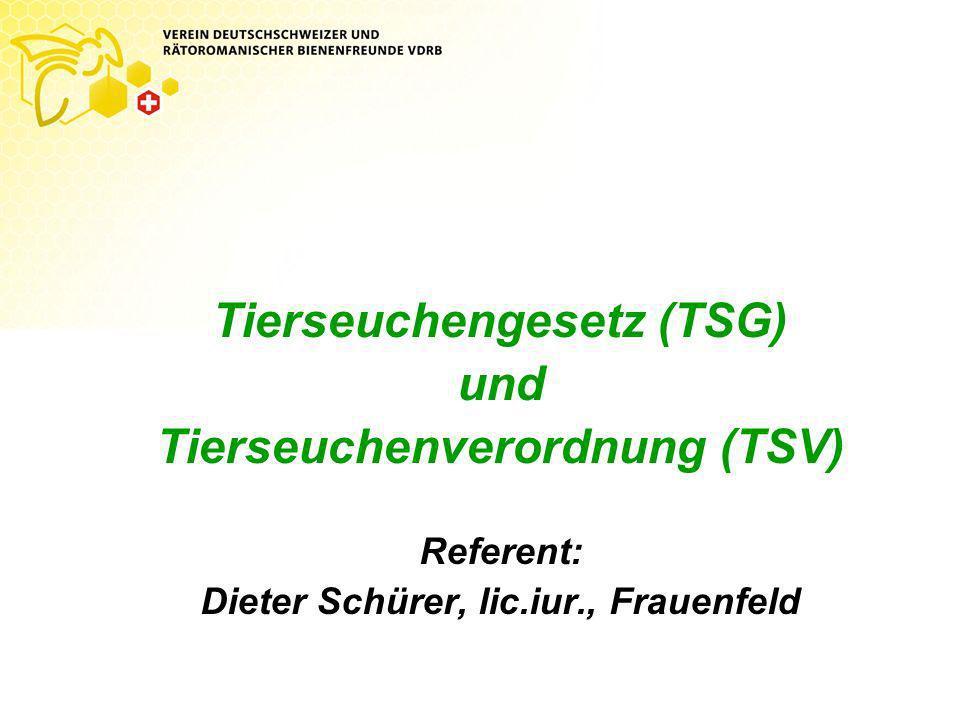 Tierseuchengesetz (TSG) und Tierseuchenverordnung (TSV)
