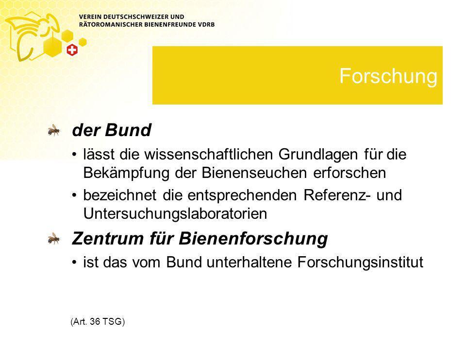 Forschung der Bund Zentrum für Bienenforschung