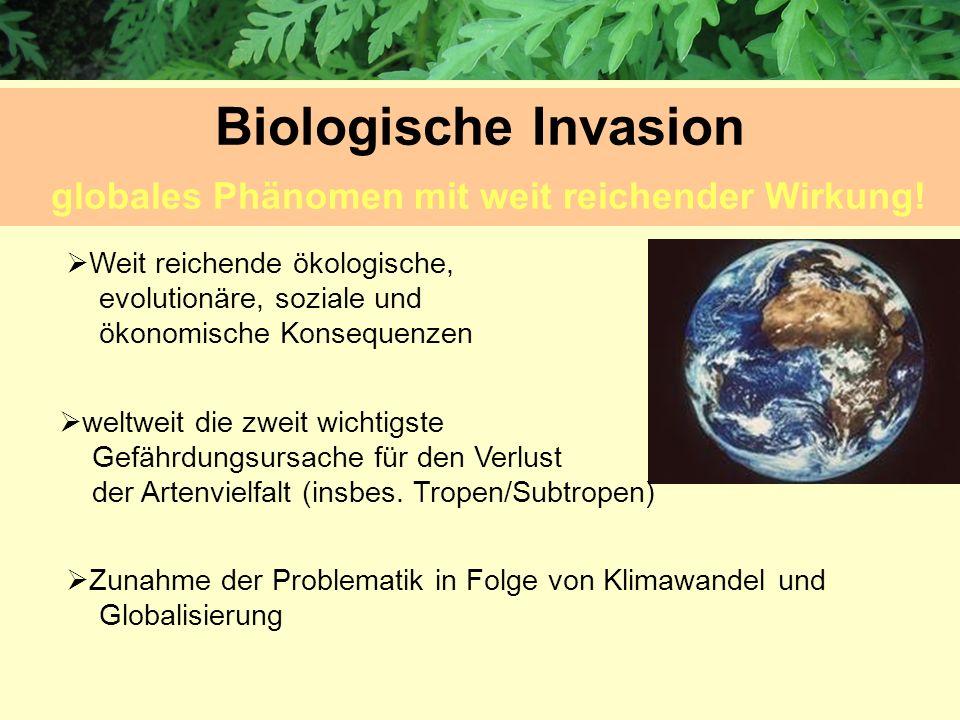 Biologische Invasion globales Phänomen mit weit reichender Wirkung!