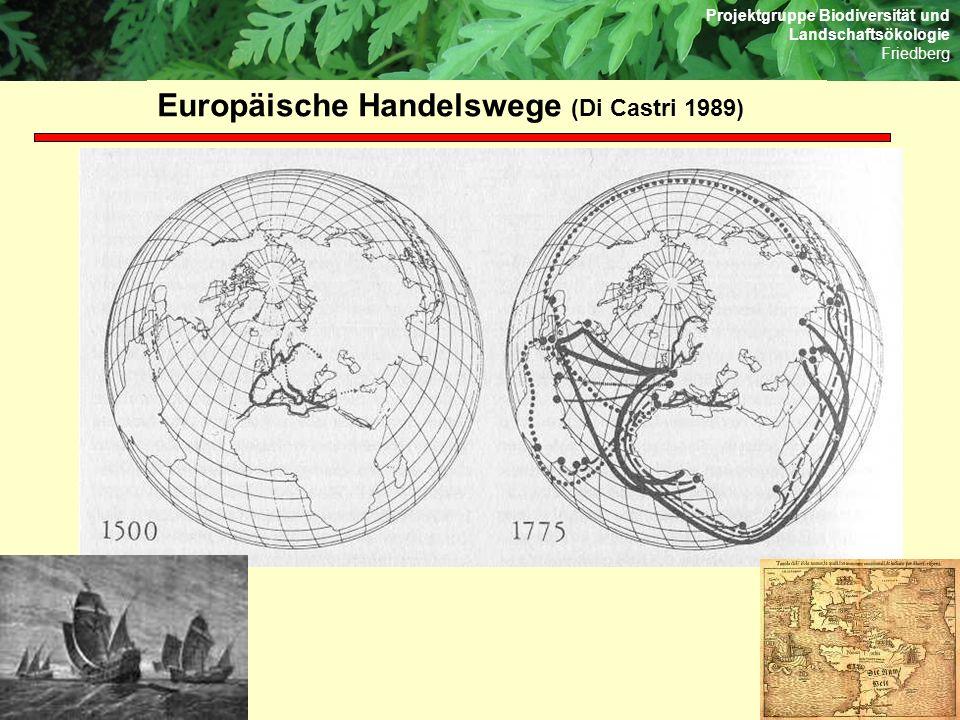 Europäische Handelswege (Di Castri 1989)