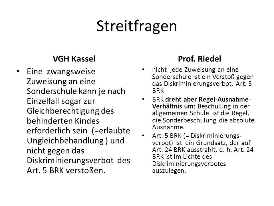Streitfragen VGH Kassel Prof. Riedel