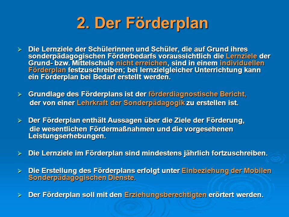 2. Der Förderplan