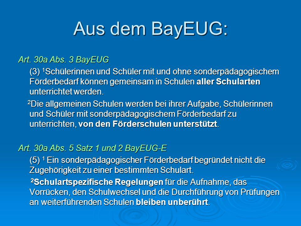 Aus dem BayEUG: Art. 30a Abs. 3 BayEUG