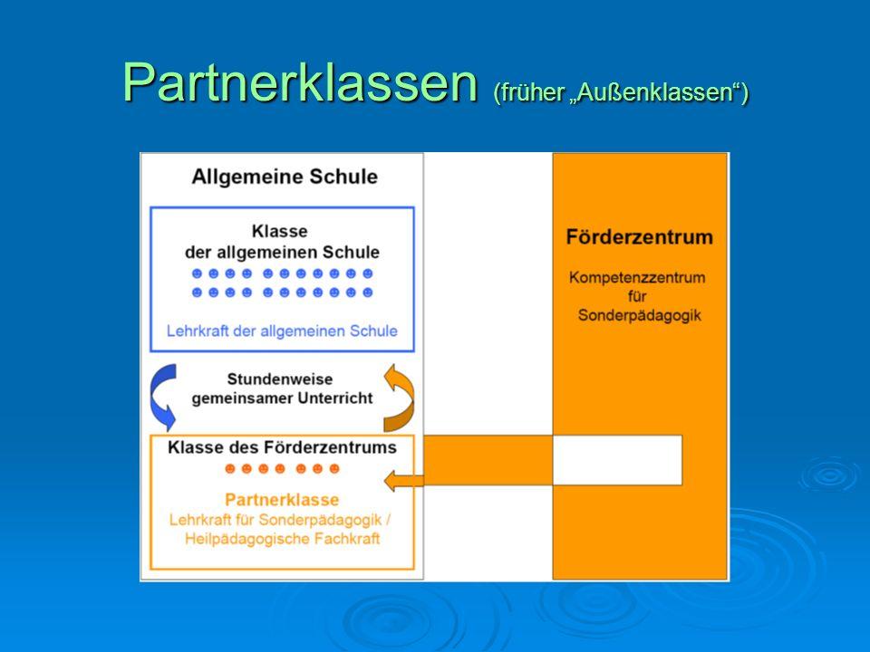 """Partnerklassen (früher """"Außenklassen )"""