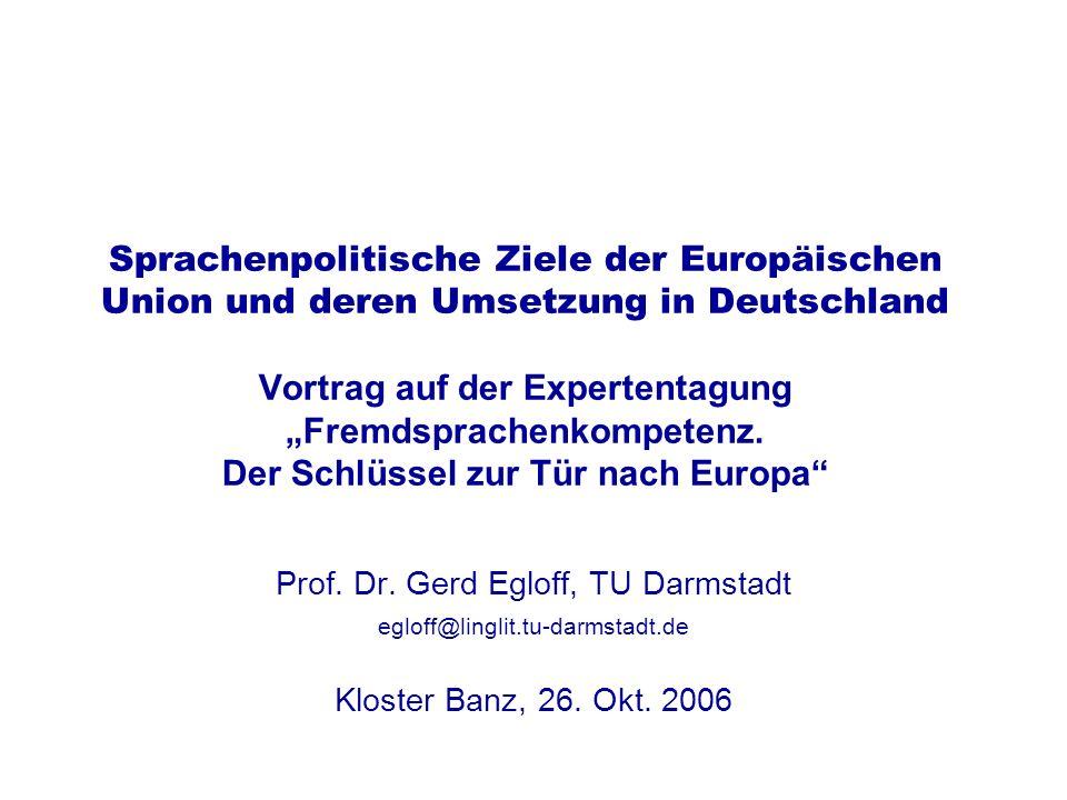 Prof. Dr. Gerd Egloff, TU Darmstadt