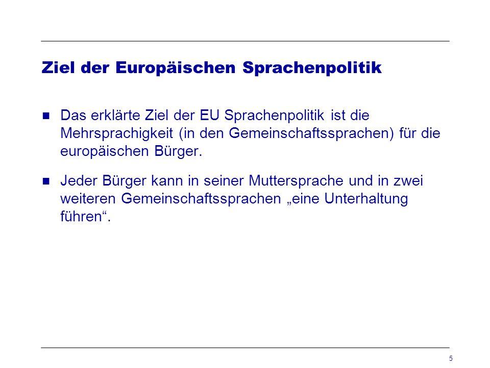 Ziel der Europäischen Sprachenpolitik