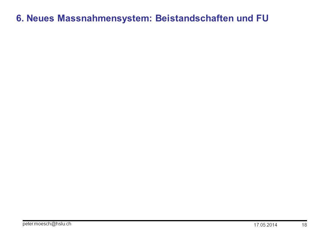 6. Neues Massnahmensystem: Beistandschaften und FU