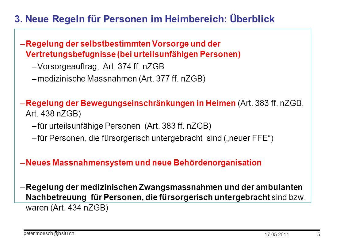 3. Neue Regeln für Personen im Heimbereich: Überblick