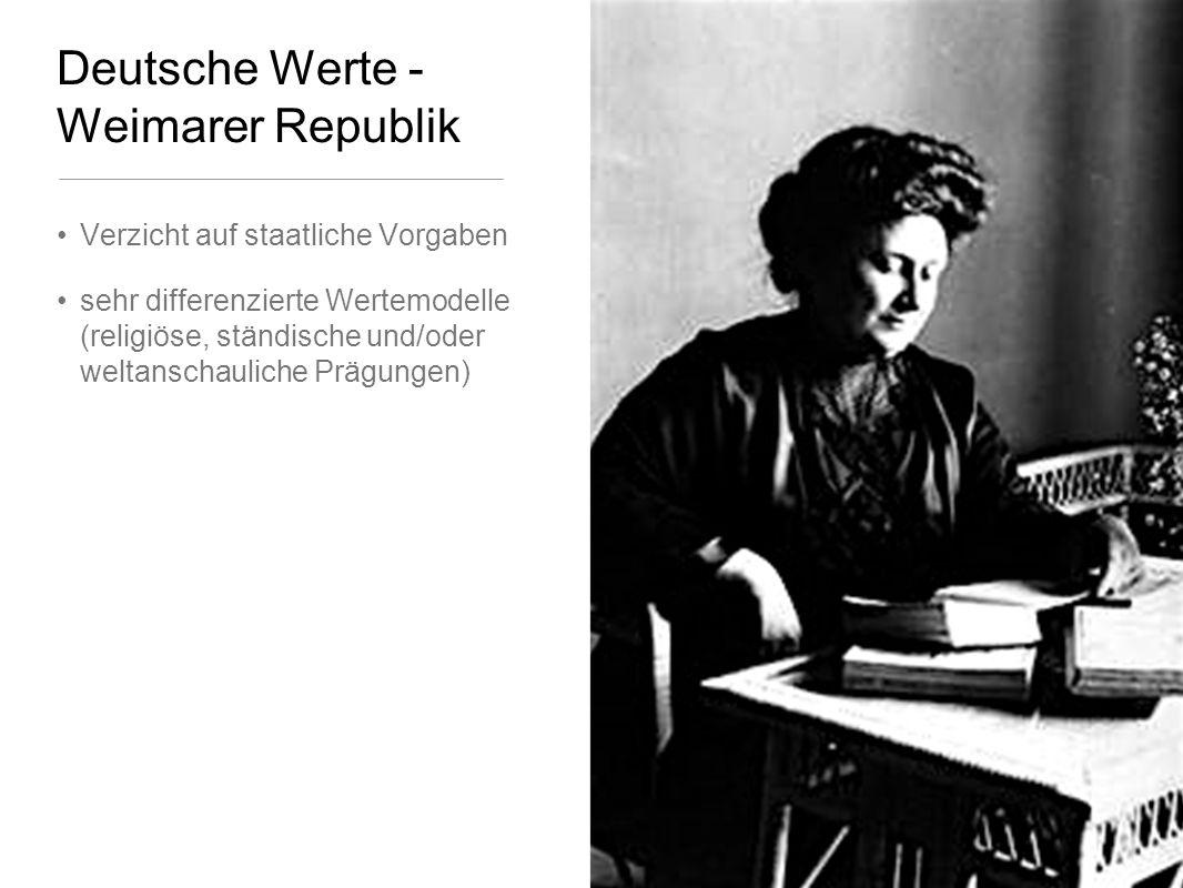 Deutsche Werte - Weimarer Republik