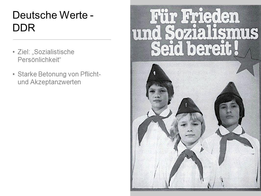 """Deutsche Werte - DDR Ziel: """"Sozialistische Persönlichkeit"""