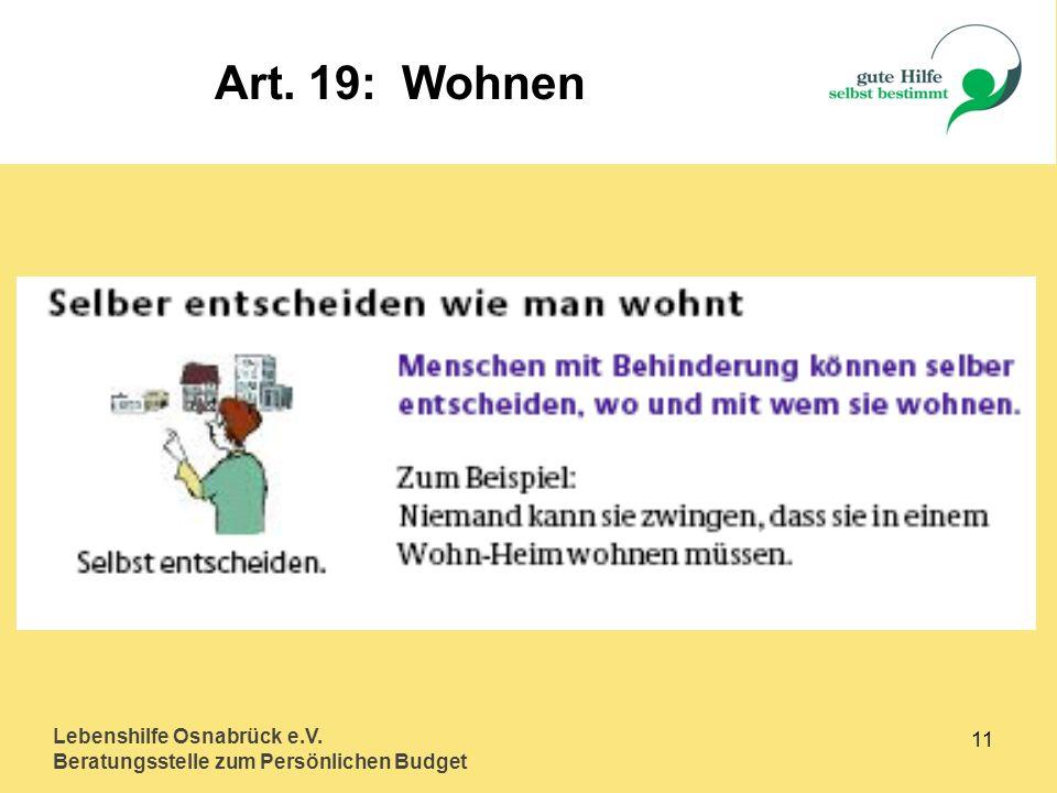 Art. 19: Wohnen Lebenshilfe Osnabrück e.V. 11