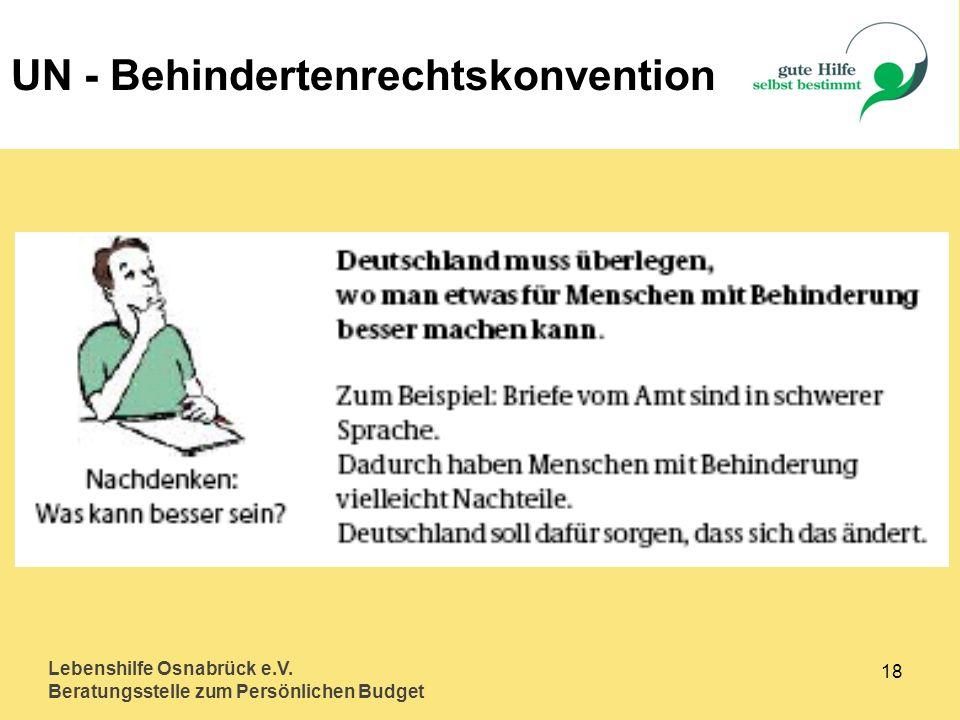 UN - Behindertenrechtskonvention