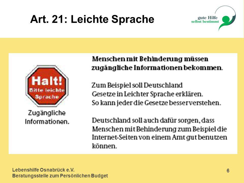 Art. 21: Leichte Sprache Lebenshilfe Osnabrück e.V. 6