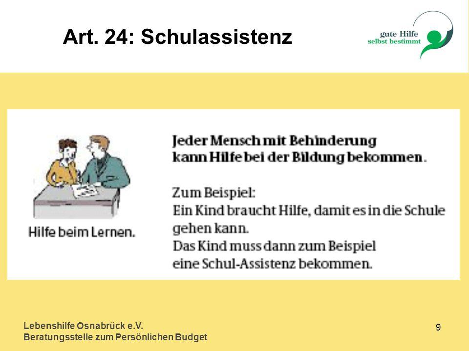 Art. 24: Schulassistenz Lebenshilfe Osnabrück e.V. 9