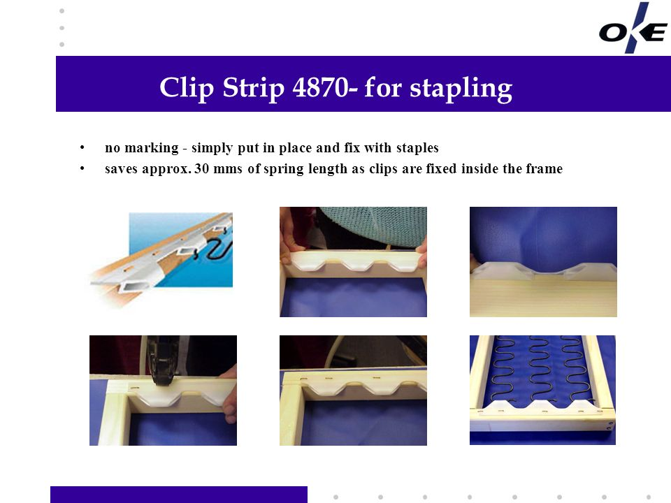 Clip Strip 4870- for stapling