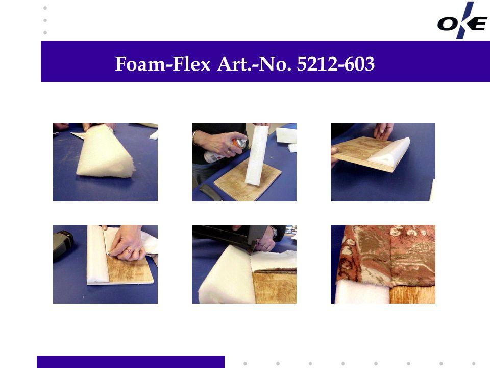 Foam-Flex Art.-No. 5212-603 Hier Informationen Ihrer Wahl hinzufügen
