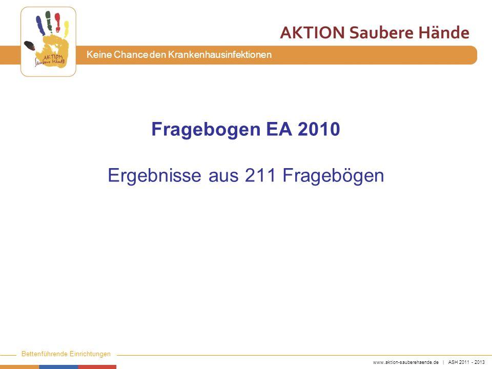 Fragebogen EA 2010 Ergebnisse aus 211 Fragebögen