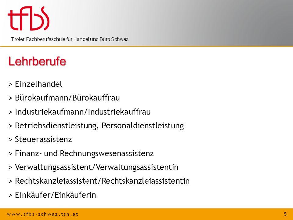 Lehrberufe > Einzelhandel > Bürokaufmann/Bürokauffrau