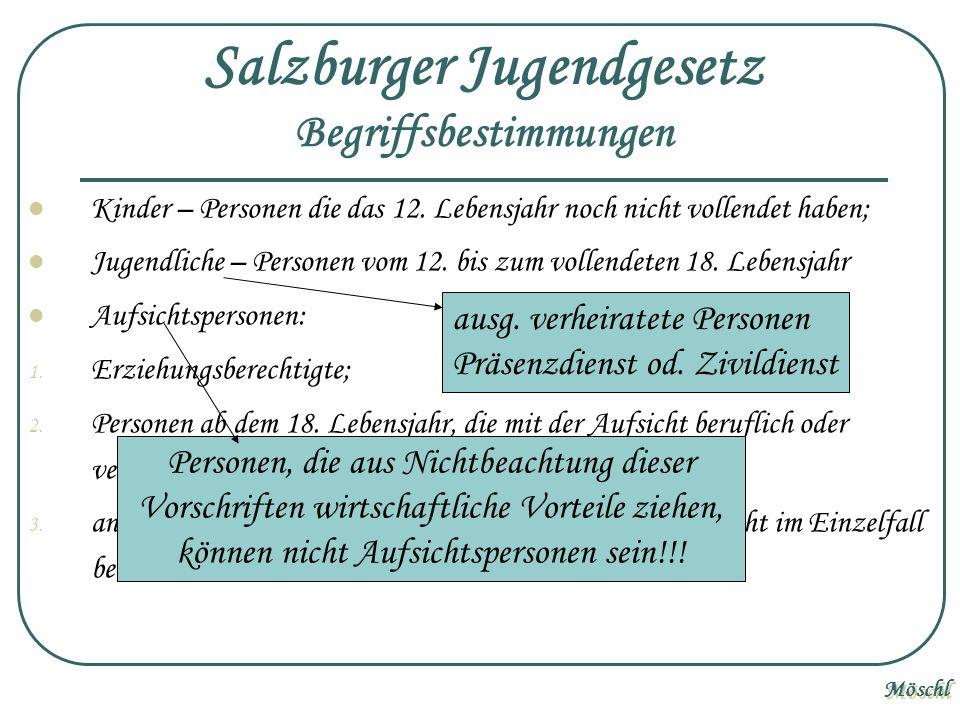 Salzburger Jugendgesetz Begriffsbestimmungen