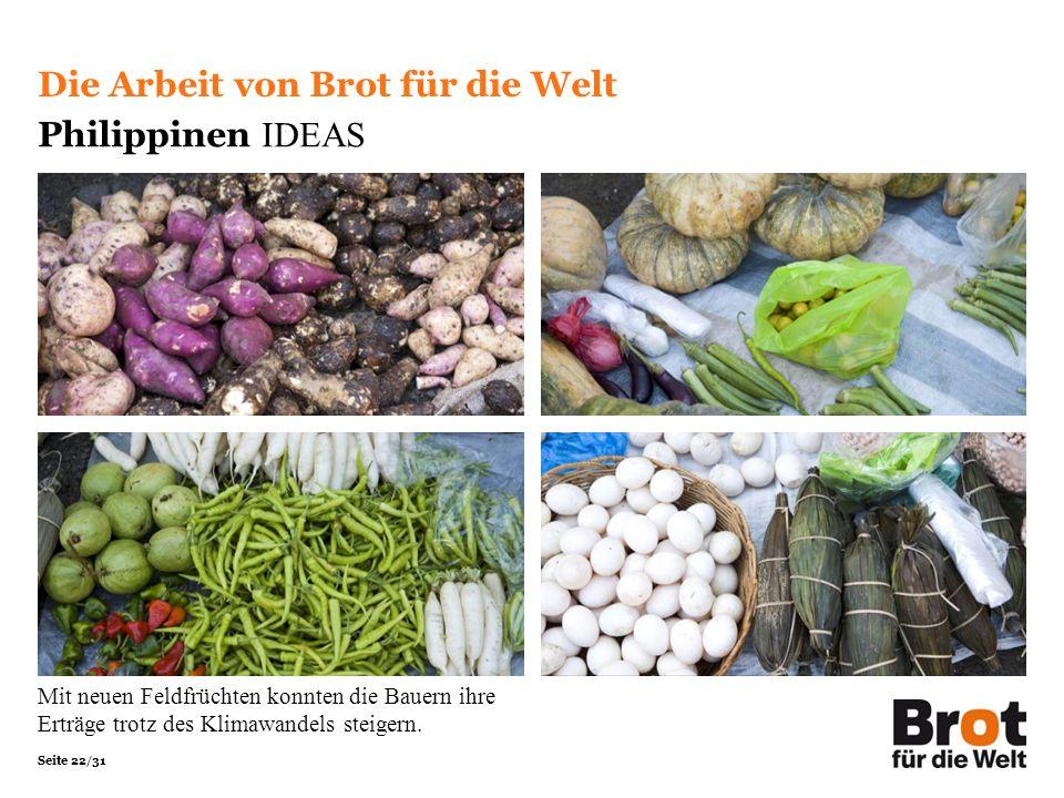 Die Arbeit von Brot für die Welt Philippinen IDEAS