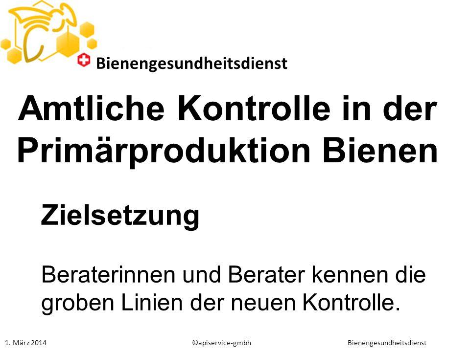 Amtliche Kontrolle in der Primärproduktion Bienen