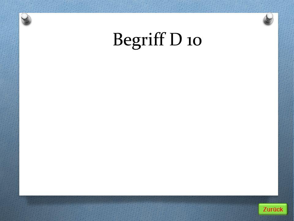Begriff D 10