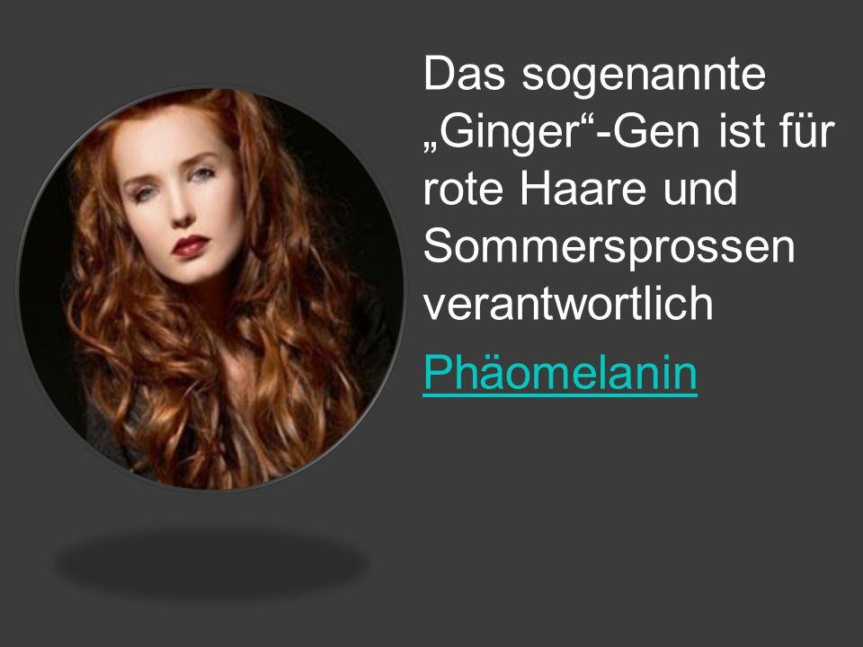 """Das sogenannte """"Ginger -Gen ist für rote Haare und Sommersprossen verantwortlich"""