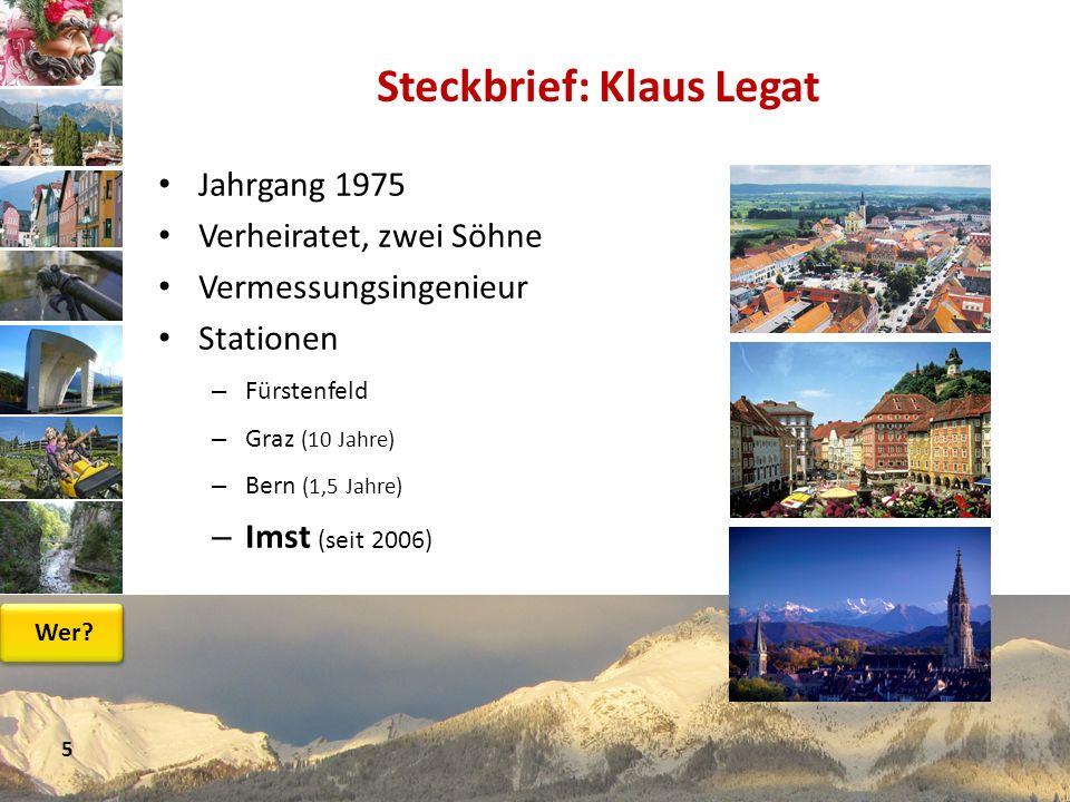Steckbrief: Klaus Legat