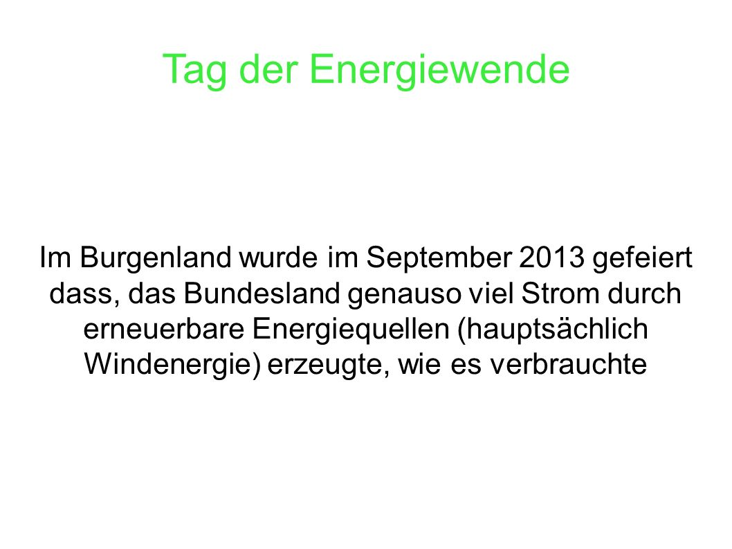 Tag der Energiewende