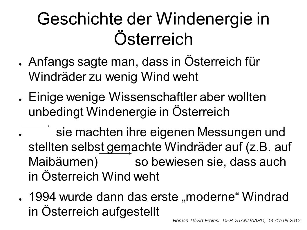 Geschichte der Windenergie in Österreich