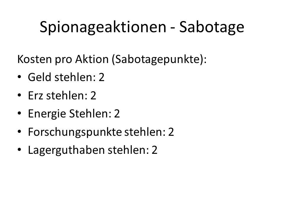 Spionageaktionen - Sabotage