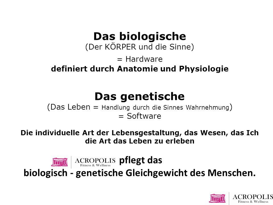 biologisch - genetische Gleichgewicht des Menschen.