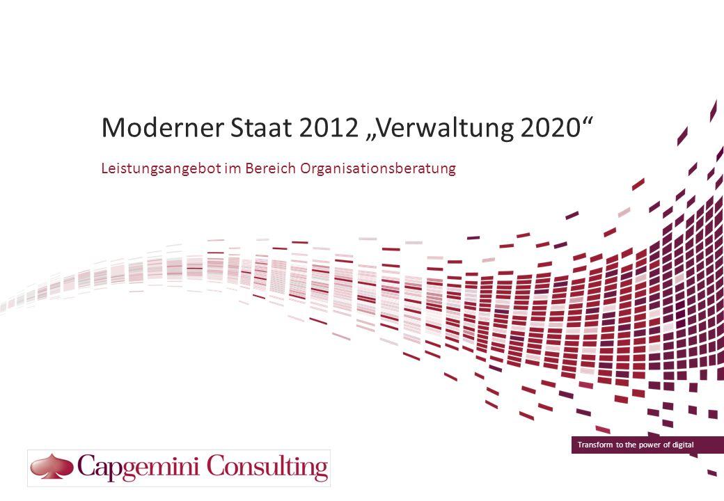 """Moderner Staat 2012 """"Verwaltung 2020"""