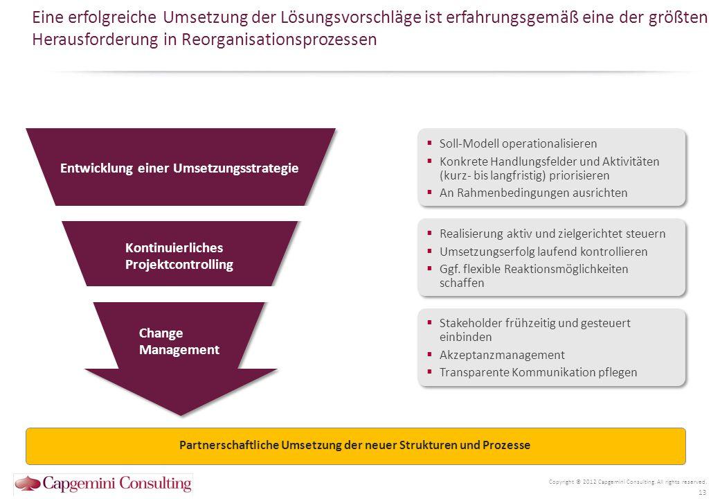Partnerschaftliche Umsetzung der neuer Strukturen und Prozesse