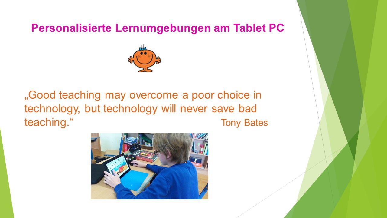 Personalisierte Lernumgebungen am Tablet PC