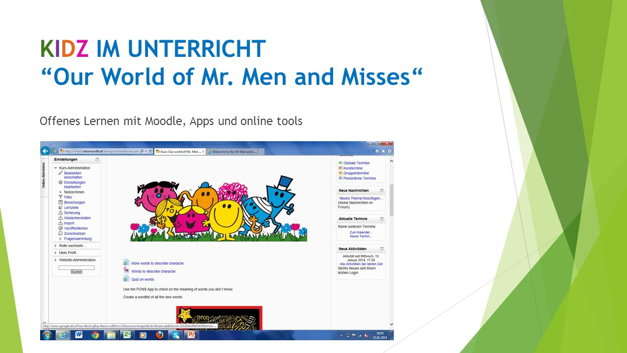 KIDZ IM UNTERRICHT Our World of Mr. Men and Misses
