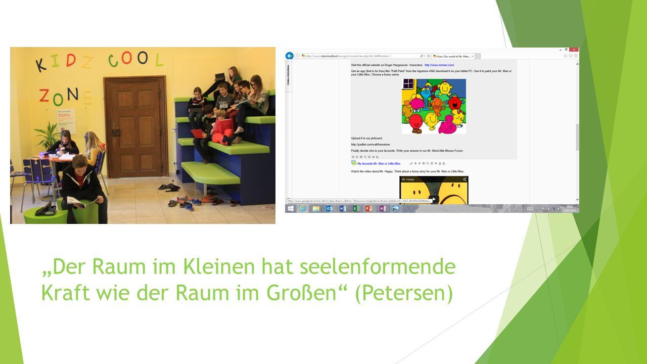 """""""Der Raum im Kleinen hat seelenformende Kraft wie der Raum im Großen (Petersen)"""