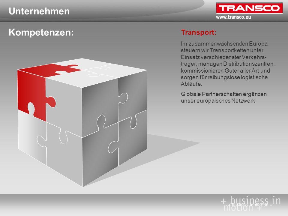 Unternehmen Kompetenzen: Transport: