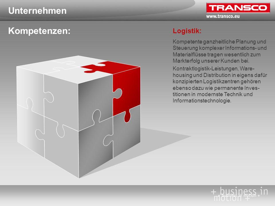 Unternehmen Kompetenzen: Logistik: