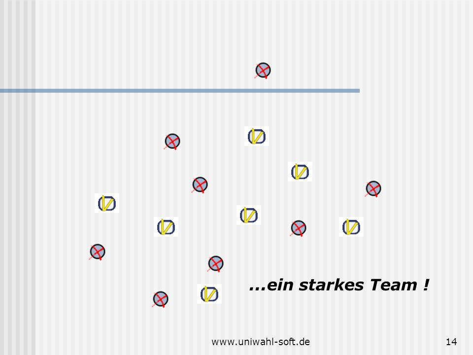 ...ein starkes Team ! www.uniwahl-soft.de