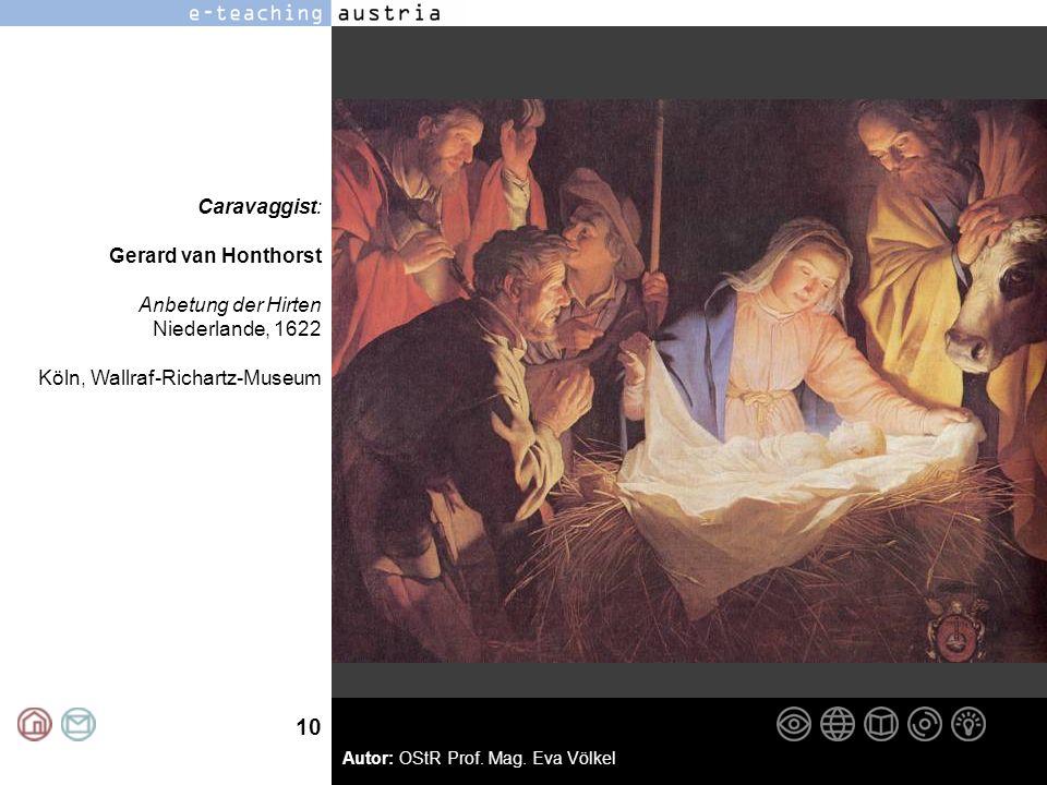 Caravaggist: Gerard van Honthorst. Anbetung der Hirten.