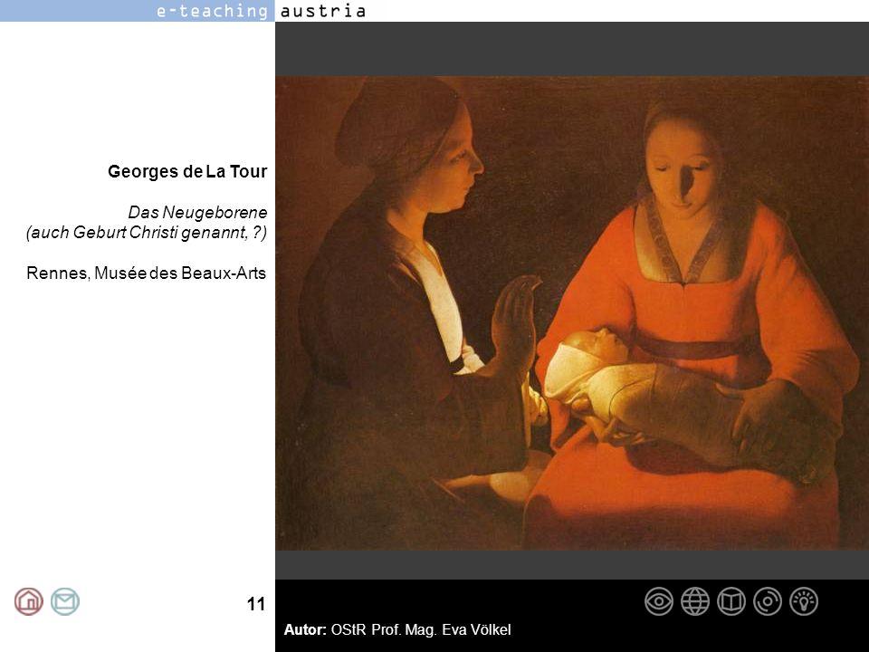 Georges de La Tour Das Neugeborene (auch Geburt Christi genannt, ) Rennes, Musée des Beaux-Arts