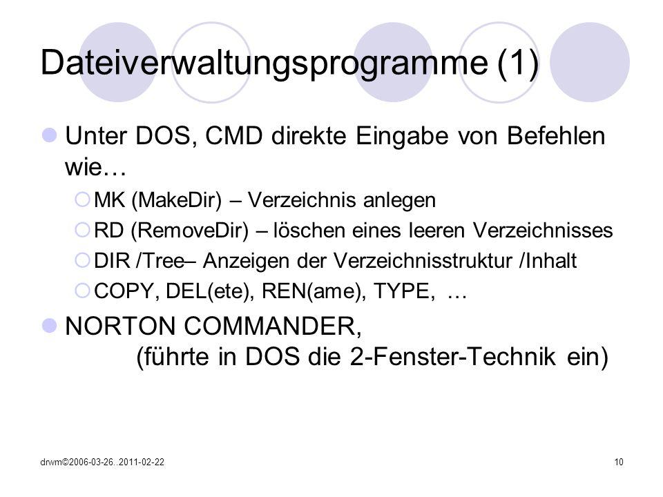 Dateiverwaltungsprogramme (1)